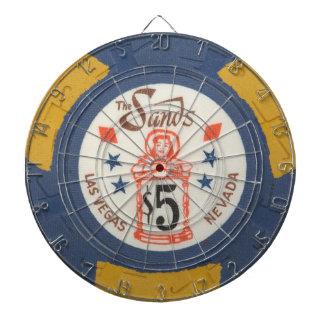 Juego de la ficha de póker del casino de Las Vegas Tablero De Dardos