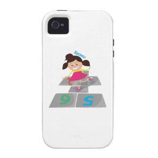 Juego de la hendidura vibe iPhone 4 carcasas