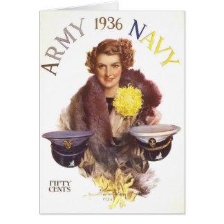 Juego de la marina de guerra del ejército tarjetas