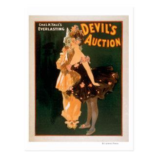 Juego de la subasta del diablo eterno de Yale Tarjetas Postales