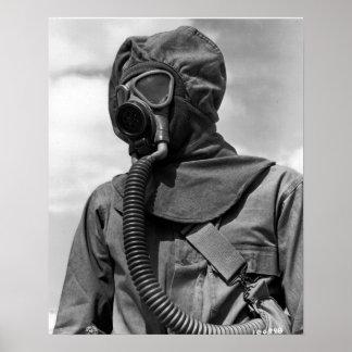 Juego de la sustancia química de WWII Póster