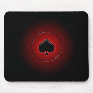 Juego de la tarjeta de la espada que brilla intens alfombrillas de ratones