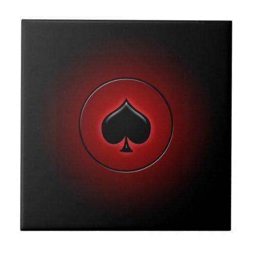 Juego de la tarjeta de la espada que brilla intens azulejo cuadrado pequeño