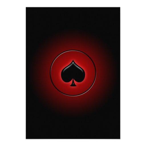 Juego de la tarjeta de la espada que brilla intens comunicado personal