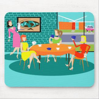 Juego de la tarjeta semanal de las mujeres retras alfombrillas de ratones