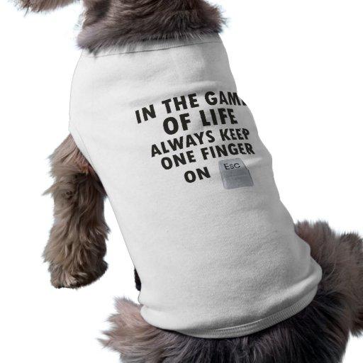 Juego de la vida playera sin mangas para perro