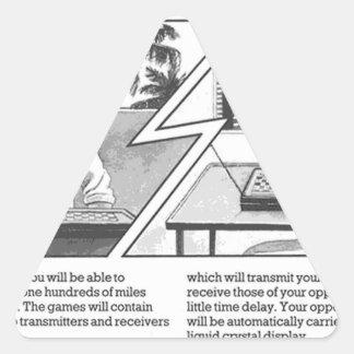 Juego de larga distancia - artículo de revista del pegatina triangular