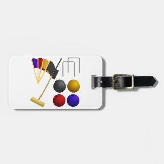 Juego de las etiquetas del equipaje del croquet etiquetas para equipaje