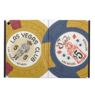 Juego de las fichas de póker del casino de Las Veg