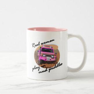 Juego de las mujeres reales en regalos de los taza dos tonos