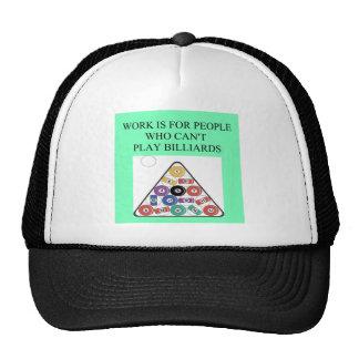 juego de los billares gorras de camionero