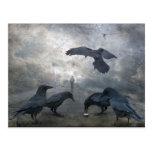 Juego de los cuervos con tiempo perdido postal