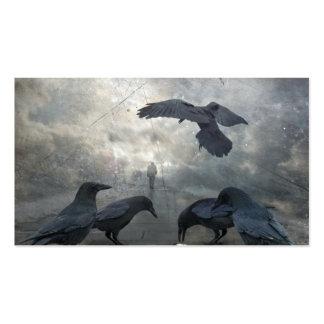 Juego de los cuervos con tiempo perdido tarjetas de visita