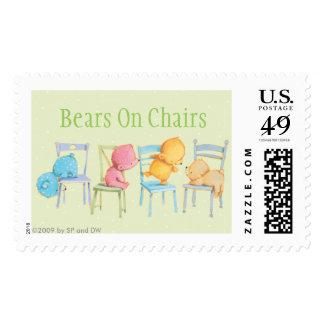 Juego de los osos azules, rosados, amarillos, y de sellos