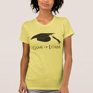 Juego de los préstamos de la graduación de la camiseta