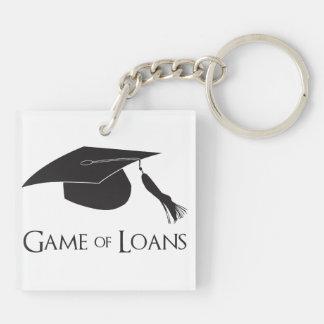 Juego de los préstamos de la graduación de la univ llaveros