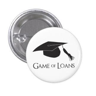 Juego de los préstamos de la graduación de la univ pin redondo 2,5 cm