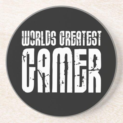 Juego de los videojuegos y el videojugador más gra posavasos personalizados