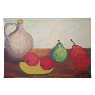 juego de manteles individuales frutas