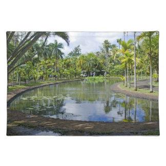 juego de manteles individuales jardín tropical