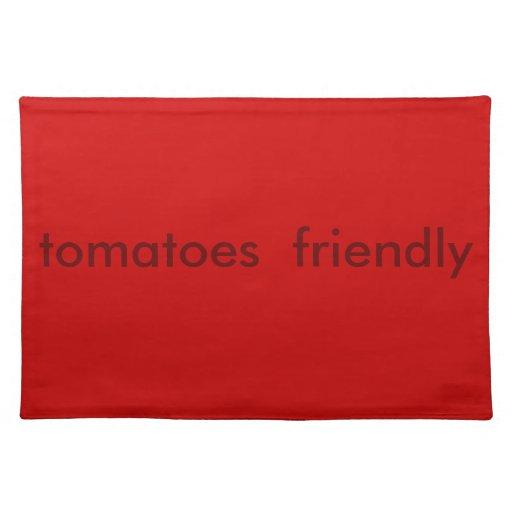"juego de manteles individuales ""tomatoes friendly"