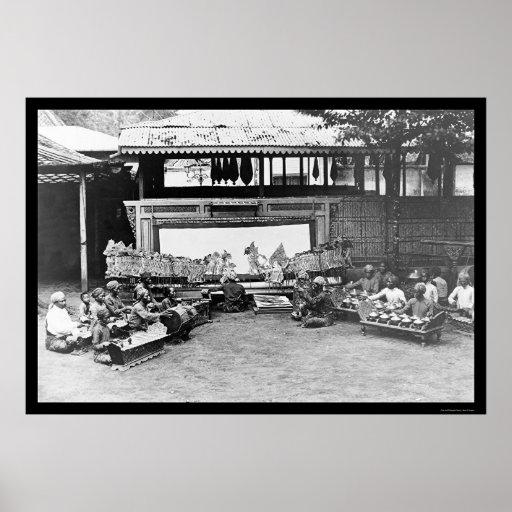 Juego de marioneta Java Indonesia 1898 Posters