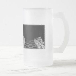 Juego de mesa de cristal fantasmagórico negro y taza de cristal