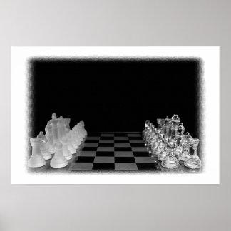 Juego de mesa fantasmagórico negro y blanco del póster