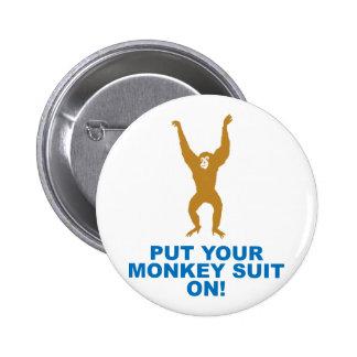 Juego de mono pin redondo de 2 pulgadas