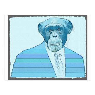Juego de mono postal
