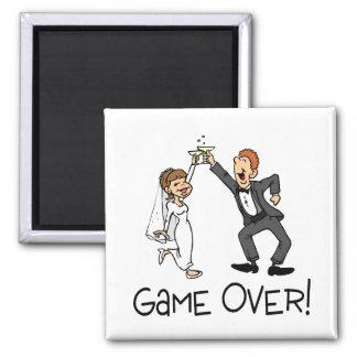Juego de novia y del novio encima iman de frigorífico