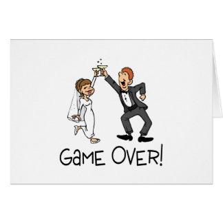 Juego de novia y del novio encima tarjeta de felicitación