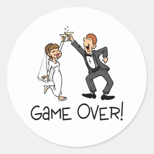 Juego de novia y del novio sobre el boda etiquetas redondas