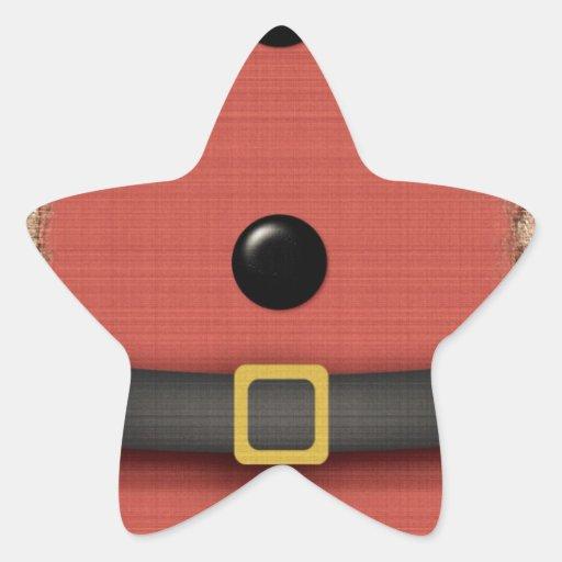 juego de Papá Noel con los botones de la correa Pegatina En Forma De Estrella