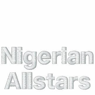 Juego de pista nigeriano de los estados chaqueta bordada de entrenamiento