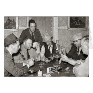Juego de póker, 1939 tarjeta de felicitación