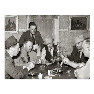 Juego de póker, 1939 tarjeta postal