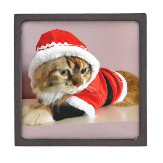 Juego de Santa del gato del gatito de las Felices  Caja De Regalo De Calidad