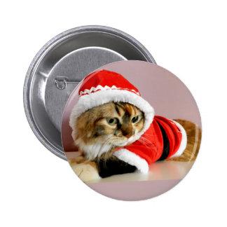 Juego de Santa del gato del gatito de las Felices  Pin
