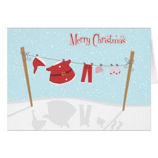 Juego de Santa en tarjeta de Navidad de la cuerda