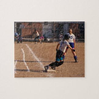 Juego de softball puzzle con fotos