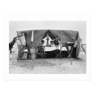 Juego de tarjeta de la playa de Rockaway, 1910 Postal
