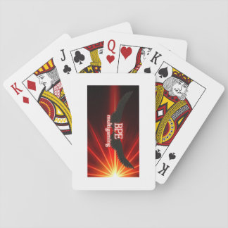 juego de tarjeta logotipo baraja de cartas