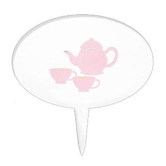 Juego de té figuras para tartas