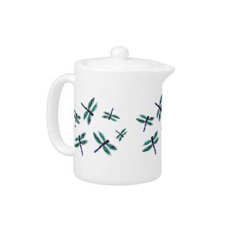 Juego de té del arte de la libélula