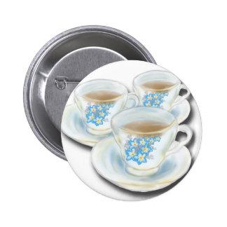 Juego de té inglés - China con las flores del forg Pin