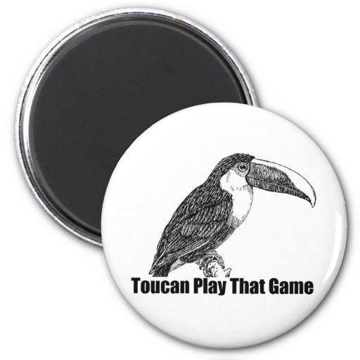 Juego de Toucan que juego Imán Redondo 5 Cm