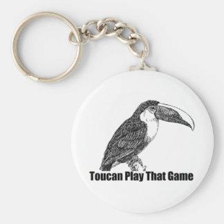 Juego de Toucan que juego Llavero Redondo Tipo Pin