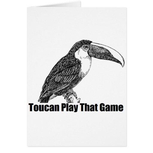 Juego de Toucan que juego Tarjeta De Felicitación