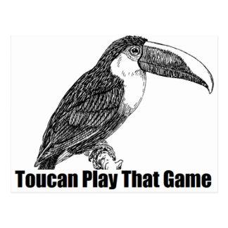 Juego de Toucan que juego Postal